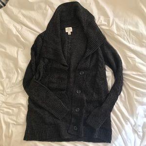 Dark Gray Knit Cardigan
